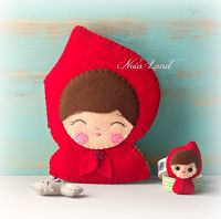 Cover for red riding hood soft book pattern