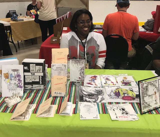 Delicia Williams displays her comics and art at STAPLE! 2018
