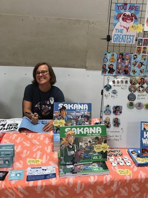 Mad Rupert displays her comics and art at STAPLE! 2018