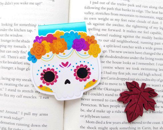 dia de los muertos bookmark