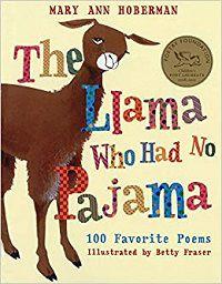 the llama who had no pajama poetry book cover