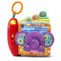 Book cover for vtech baby peek soft book