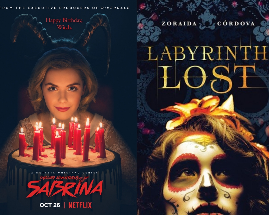 The Chilling Adventures of Sabrina poster and Labyrinth Lost cover
