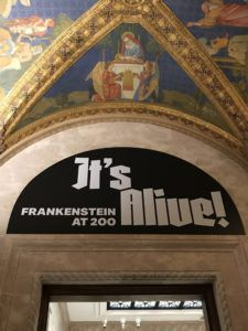Frankenstein Turns 200 Morgan Library Entrance Arch