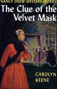 Cover of the Nancy Drew book The Clue of the Velvet Mask by Carolyn Keene