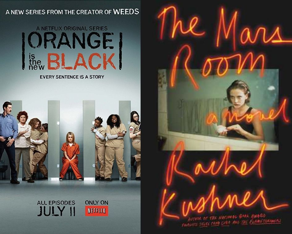 Orange is the New Black poster and The Mars Room cover