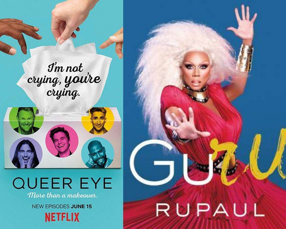 Queer Eye poster and GuRu cover