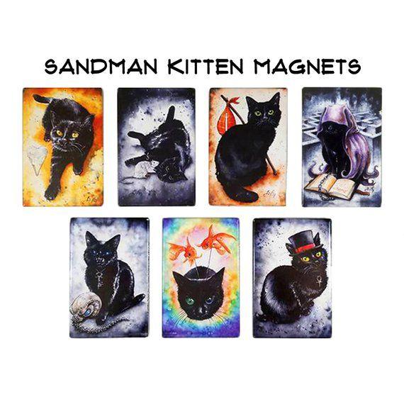 Sandman Kitten magnets