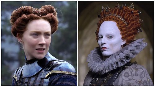 Saoirse Ronan as Mary Queen of Scots and Margot Robbie as Elizabeth I