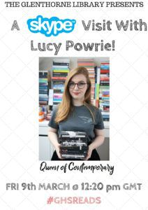 Skype visit with Lucy Powrie