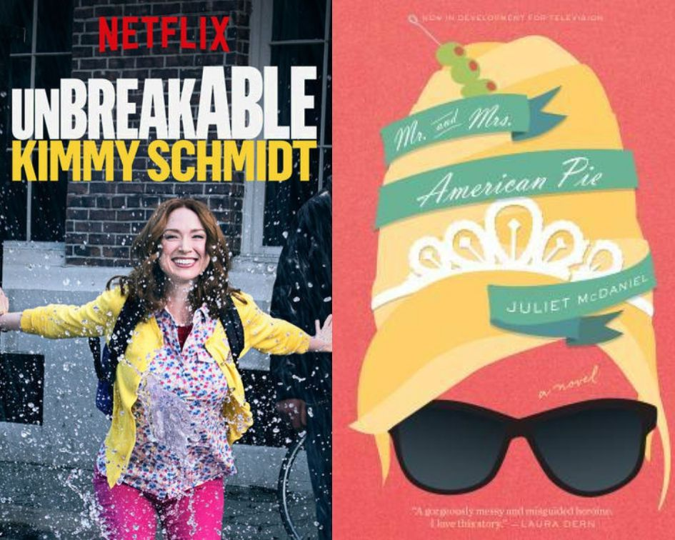 Unbreakable Kimmy Schmidt poster and Mr. & Mrs. American Pie cover