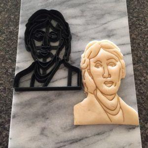 Virginia Woolf cookie cutter