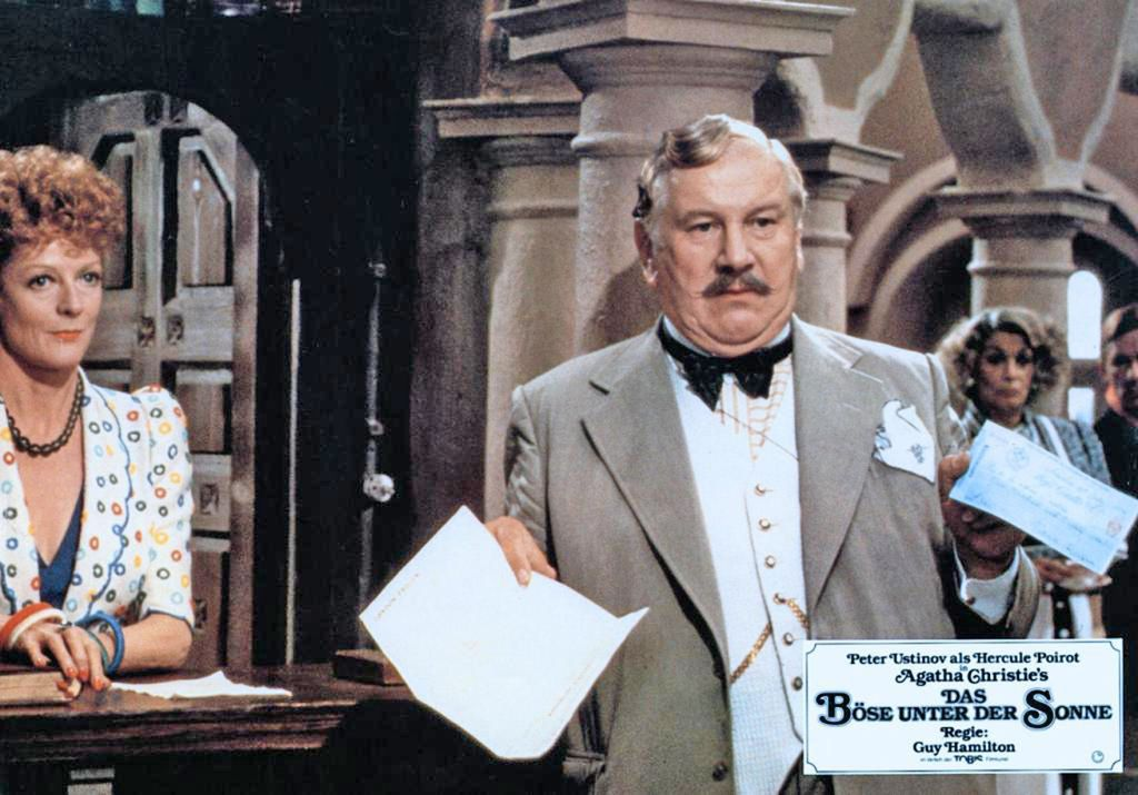 Maggie Smith and Peter Ustinov in Evil Under the Sun (1982), from IMDB