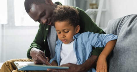 father reading to son feature 470x248 - Best Read Alouds For Kindergarten