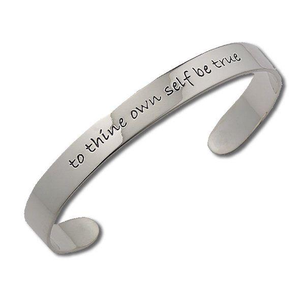 Hamlet Quote Cuff Bracelet