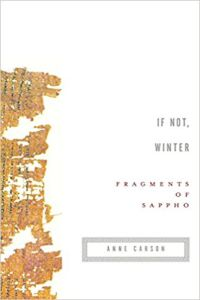 If Not Winter Fragments of Sappho cover