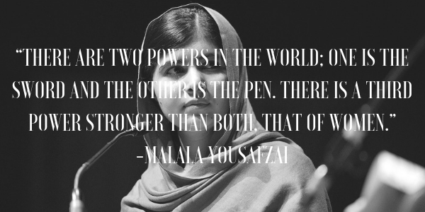60 Inspiring Malala Yousafzai Quotes On Education And More Book Riot Delectable Women's Rights Quotes