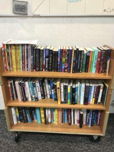 Rainbow Book Cart