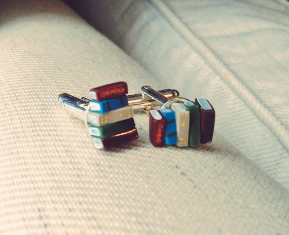 Book Stacks Cufflinks