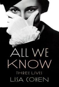 All We Know Lisa Cohen cover