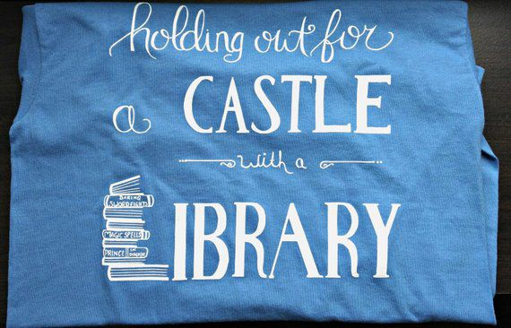 Belle Castle with a Library Shirt