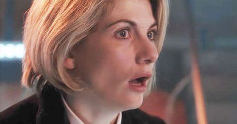 Jodie Whittaker Doctor Who looking surprised