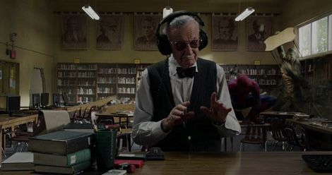 Stan Lee in The Amazing Spider-Man feature