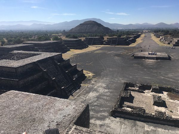view of Avenue of the Dead in Teotihuacan