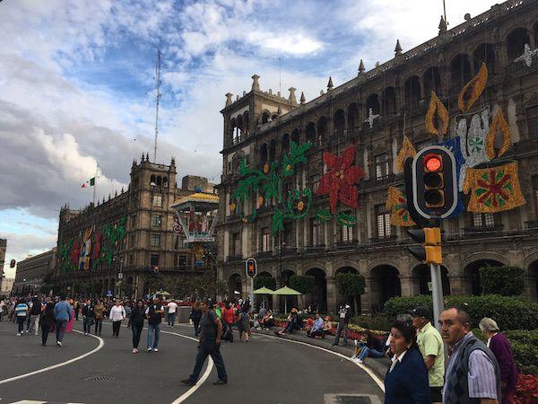 Zocalo plaza in Mexico City