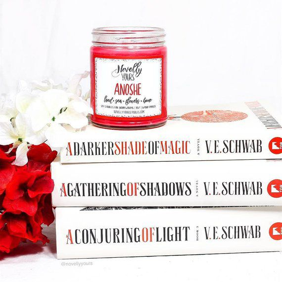 Anoshe, a Darker Shade of Magic inspired candle