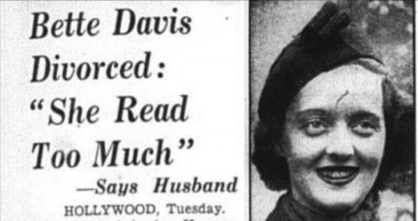 bette davis read too much