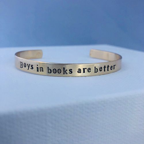romance genre cuff bracelet bookish jewelry romance reader gifts