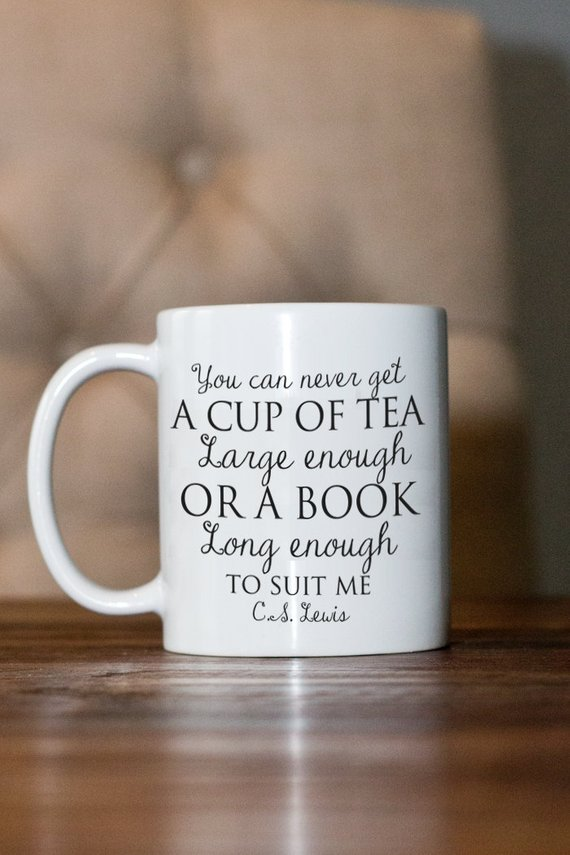 mug with C.S. Lewis quote