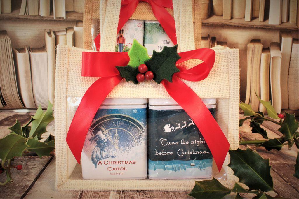 Christmas literary tea gift set