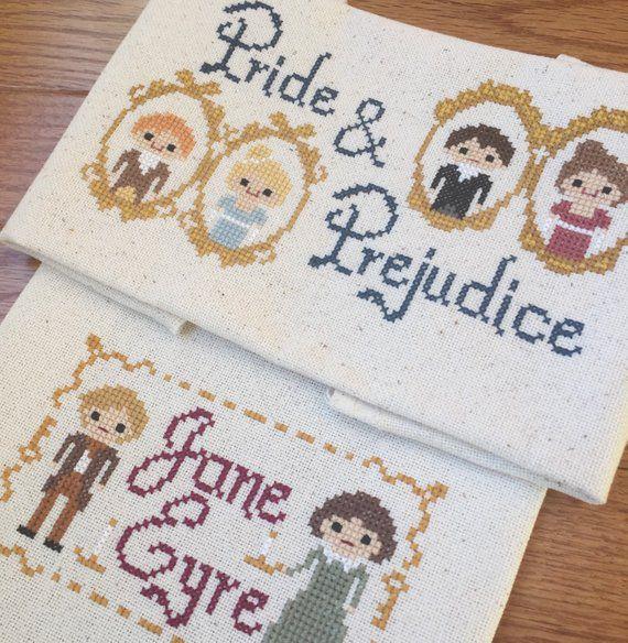 Pride & Prejudice and Jane Eyre Cross Stitch Pattern