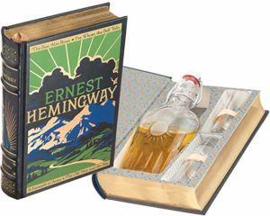 ernest hemingway mini bar hollow book with flask gifts for english teachers