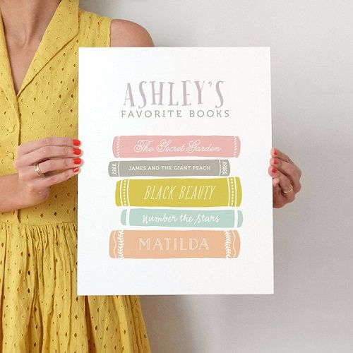 favorite books art print