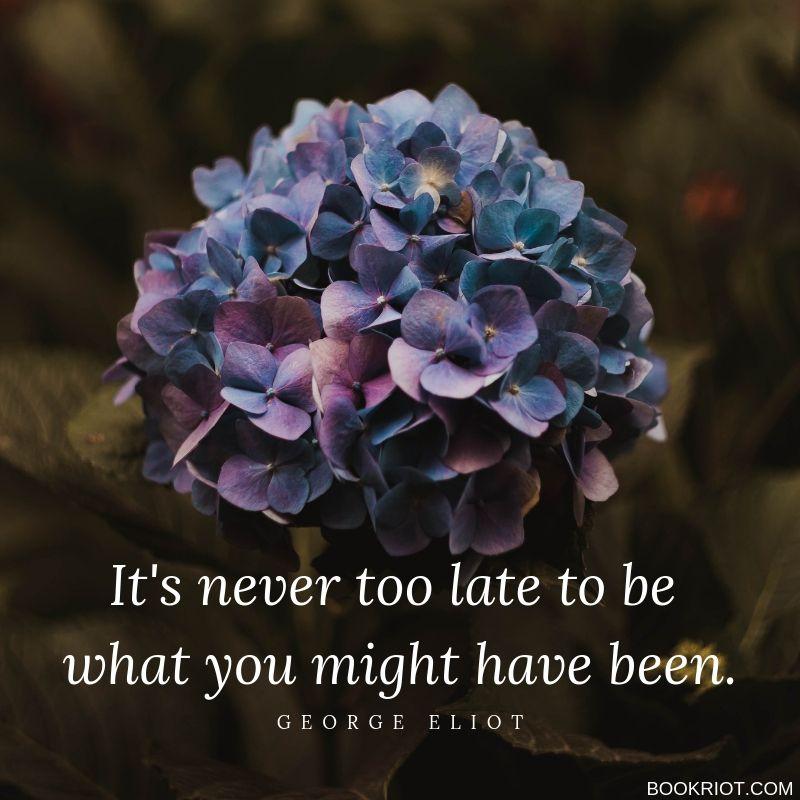 george eliot positive life quote