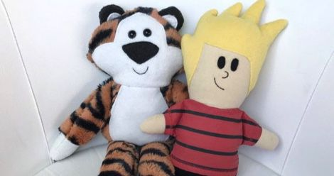 literary dolls and plush toys feature, calvin and hobbes plushies
