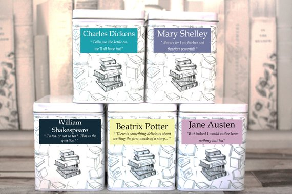 literary teas for different authors