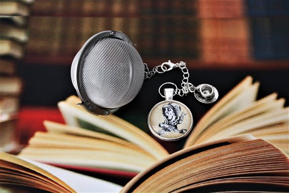 Mad Hatter inspired literary tea infuser