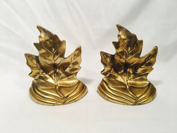maple leaf gold bookends