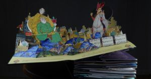 pop-up books ZAHHAK- THE LEGEND OF THE SERPENT KING