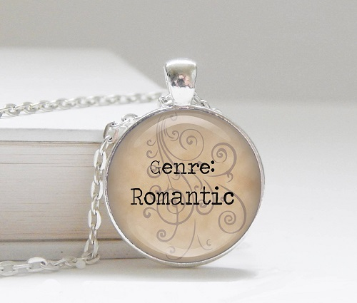 romance genre necklace bookish jewelry romance reader gifts