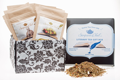 literary tea gift set sampler from simpson and vail