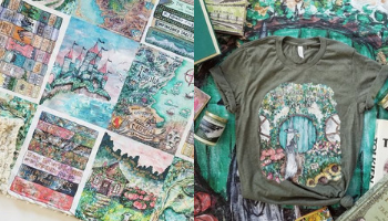 Sweet Sequels Fantasy Blanket and Shire Shirt from 10 Incredible Bookish Etsy Shops | bookriot.com