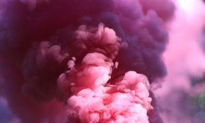 toxic pink fumes