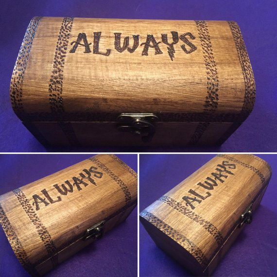 Always Wooden Chest, Unique Harry Potter Gifts, Book Riot