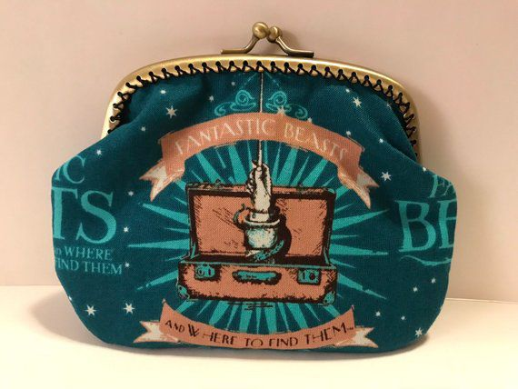 Fantastic Beasts Coin Purse, Unique Harry Potter Gifts, Book Riot