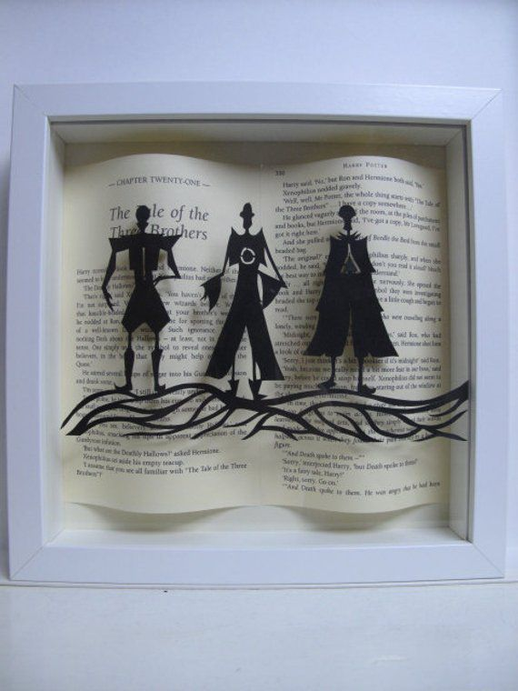 Three Brothers Framed Art, Unique Harry Potter Gifts, Book Riot